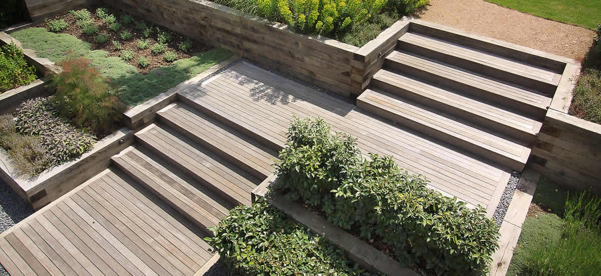 How you can design stairs in your garden landscape for Design your garden