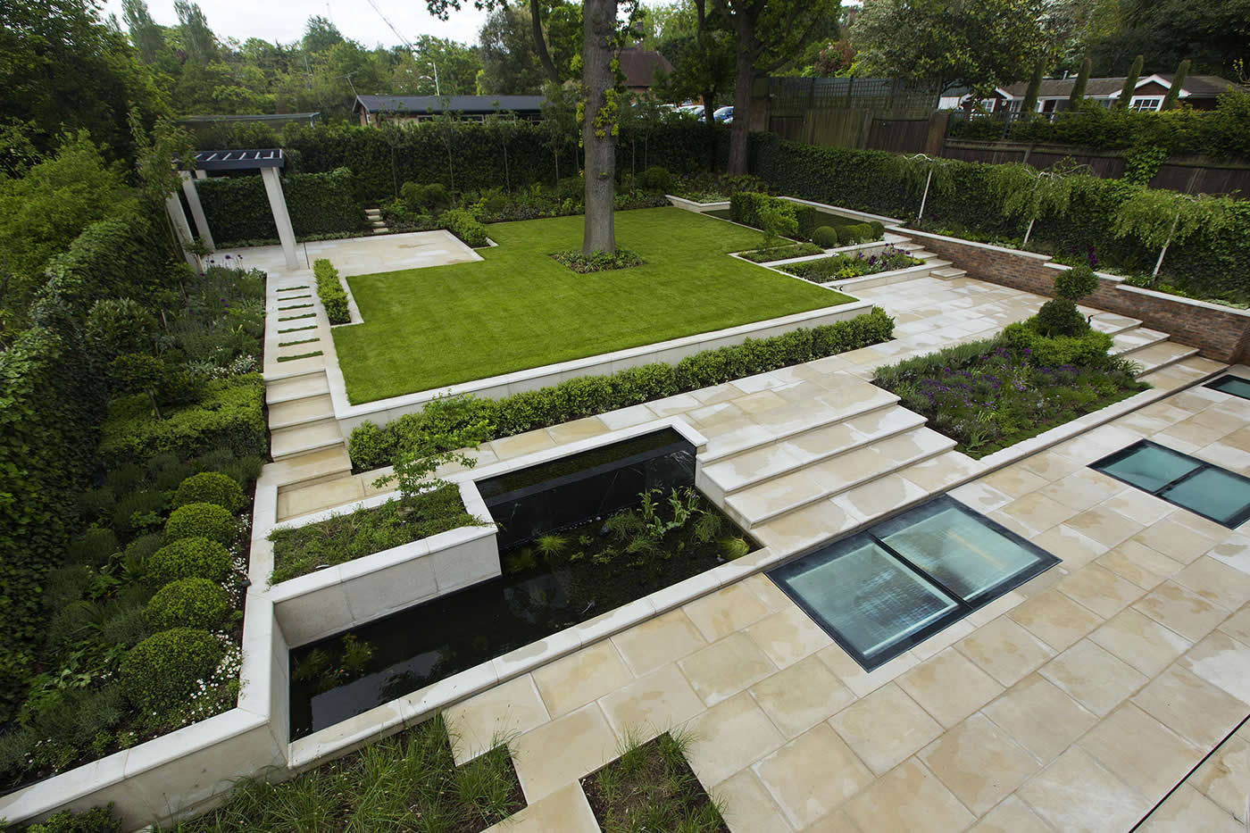 Garden landscape design skilfully executed for Outdoor landscape design