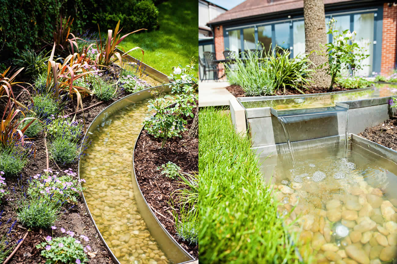 Large Suburban Garden Designed & constructed by The Garden Builders