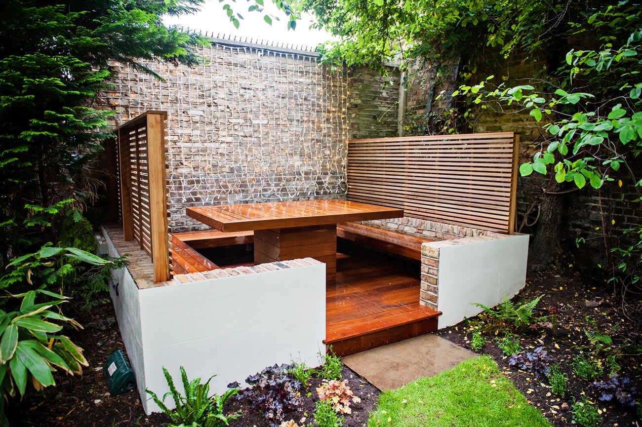 Banquette Dining Area Maida Vale, outdoot dining and entertaining ...