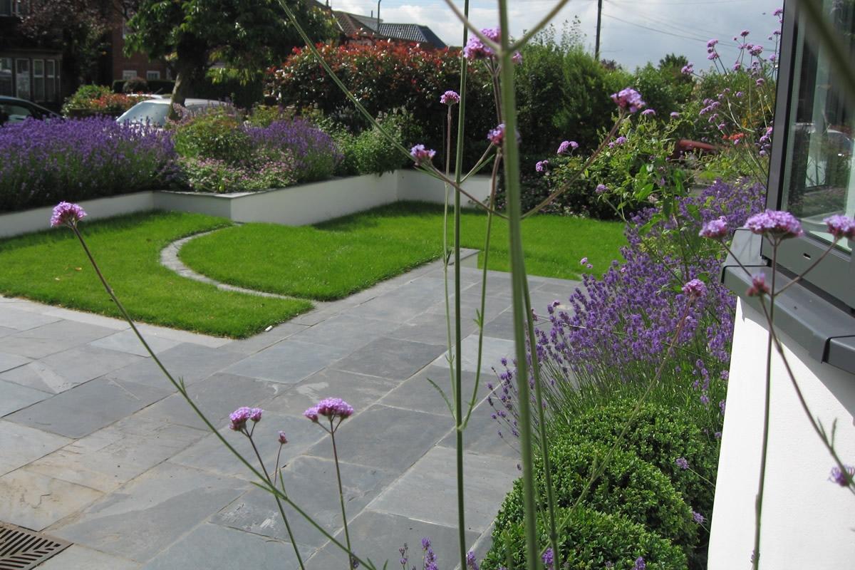 Slate Terrace Contemporary Garden Designs By Lynne Marcus