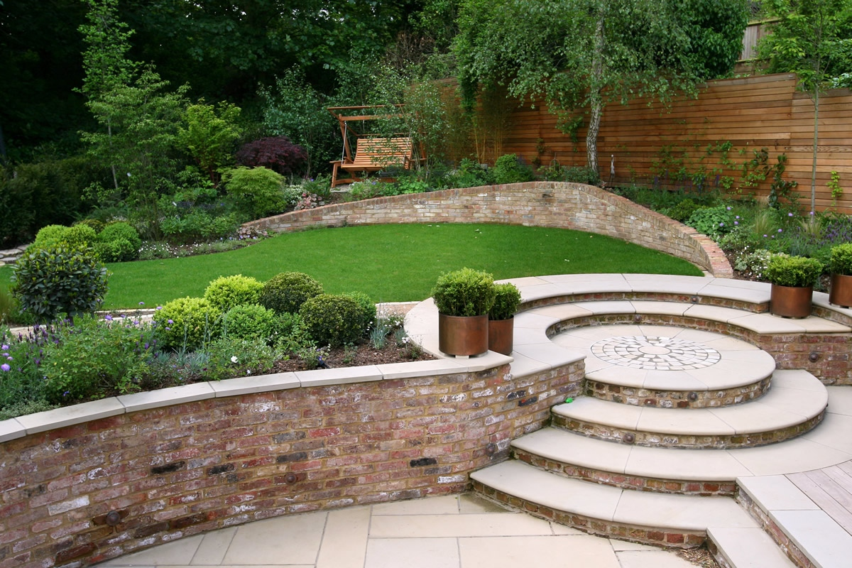 Family garden giving space and tranquillity in muswell for Garden design za