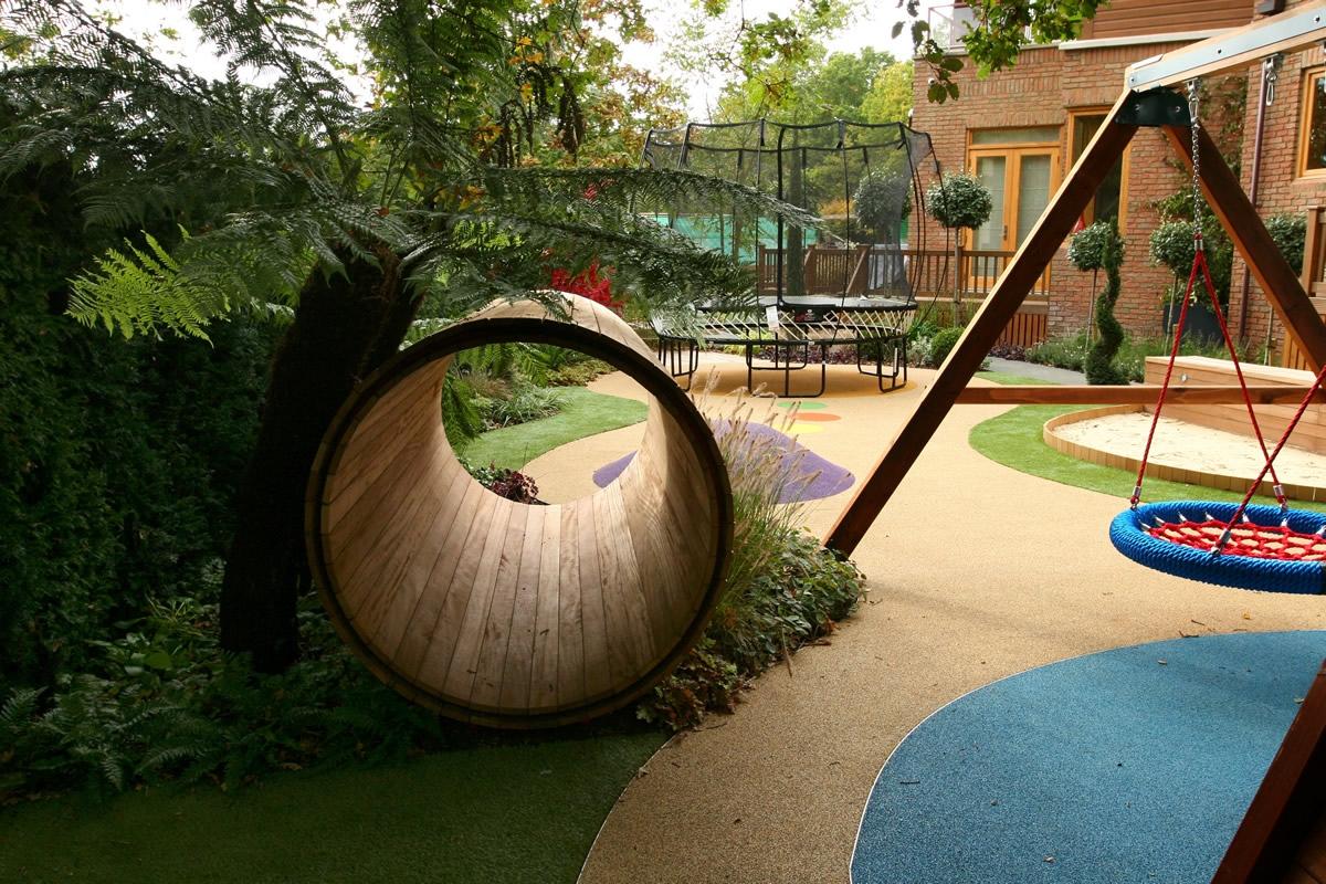 childrens play area garden design 51 apl awards 11 the garden builders hersham surrey - Garden Design Children S Play Area