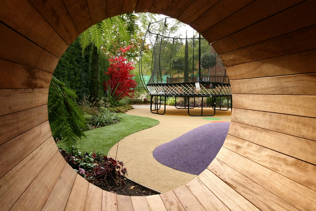 Garden Design Children S Play Area children's play area designed for large private garden in surrey