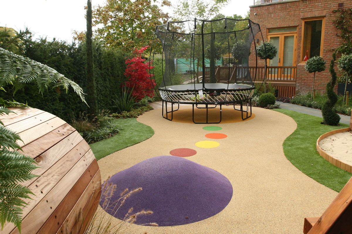 Children 39 s play area designed for large private garden in for Award winning courtyard designs