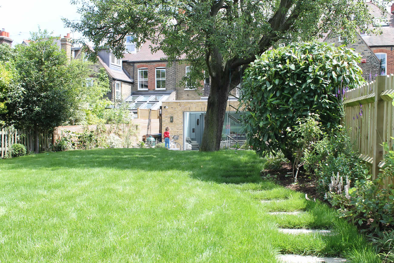 Summer Orchard Garden In Dulwich With Canopies Of The Fruit Trees And  Flowers Designed By Sarah
