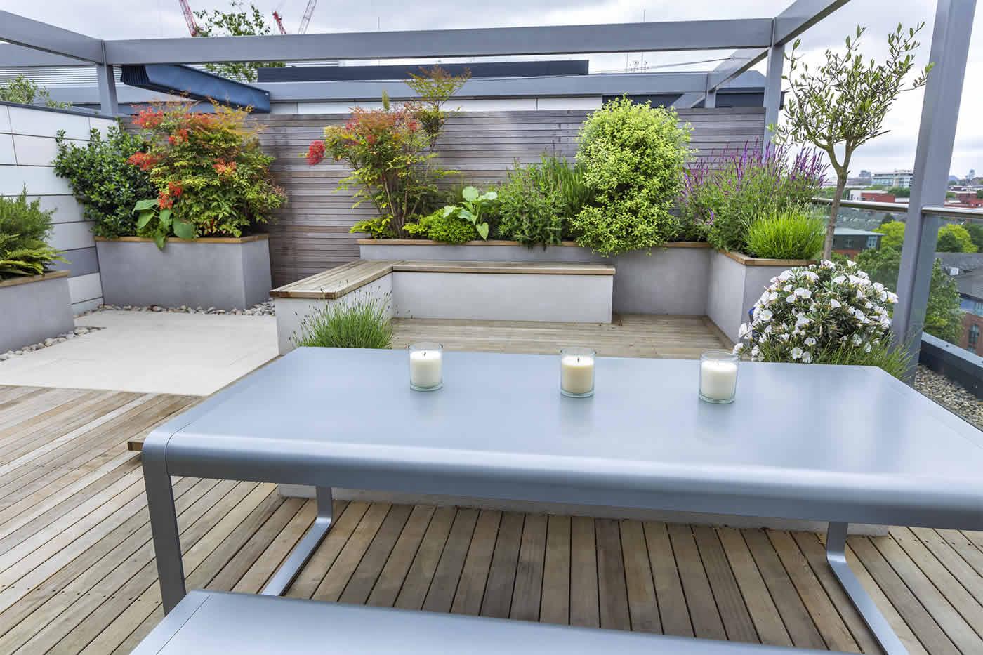 roof terrace design penthouse apartment king's cross development