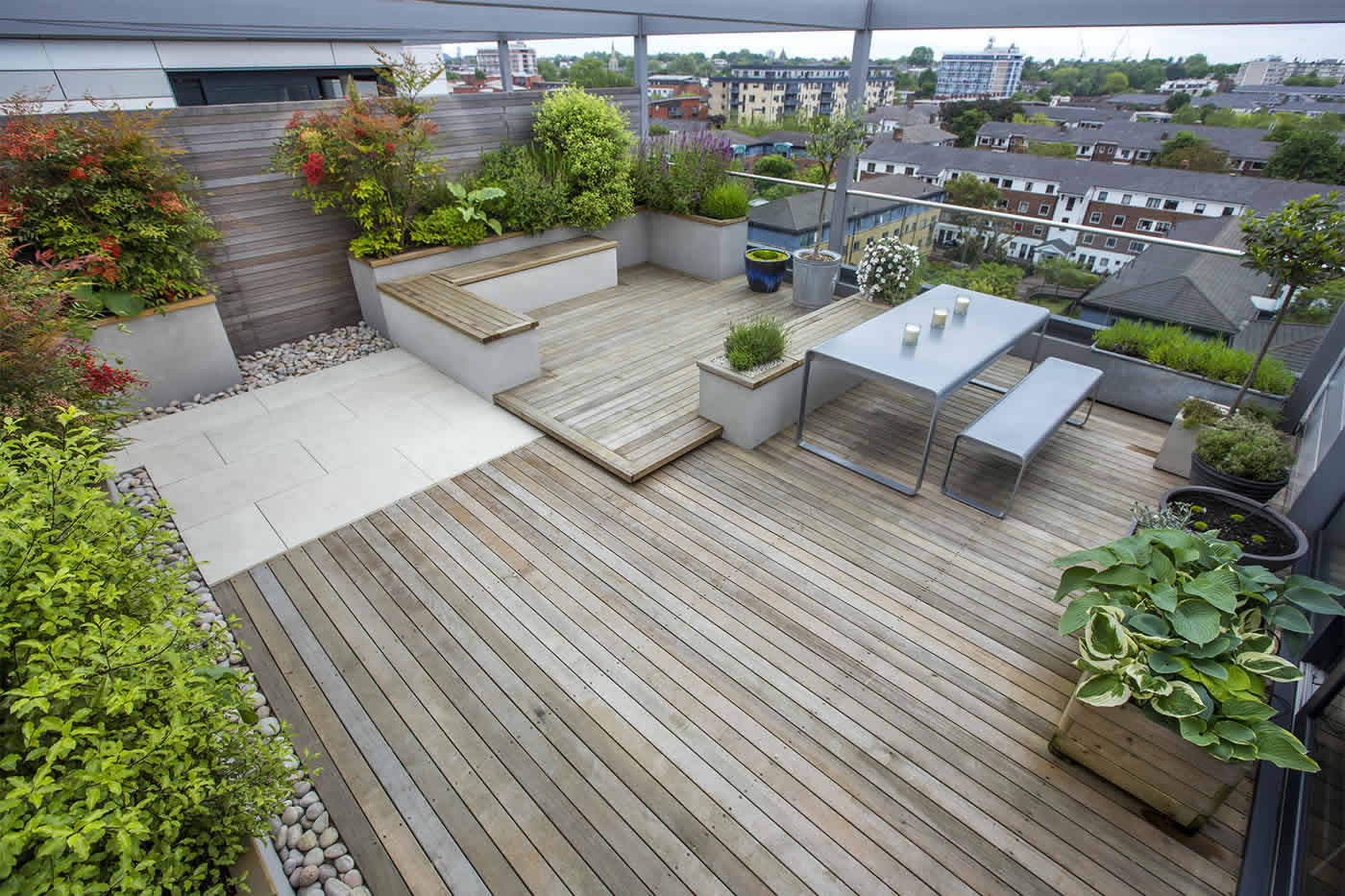 Roof terrace design penthouse apartment king 39 s cross for Terrace garden design