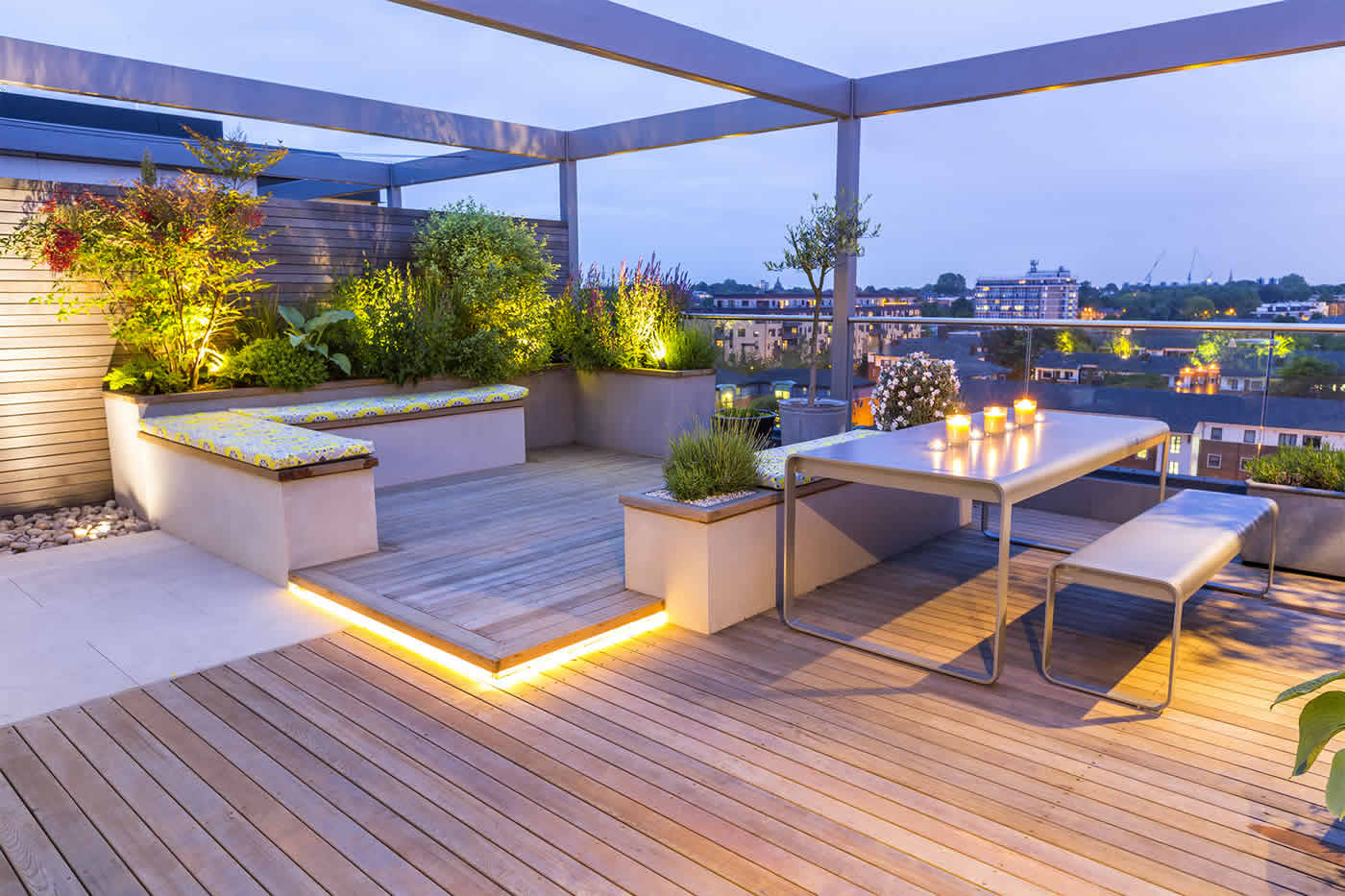 Roof terrace design penthouse apartment king 39 s cross for Terrace garden designs