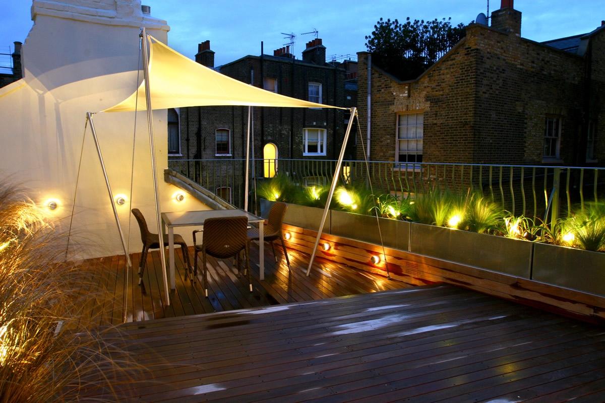 City Roof Terrace in Marylebone W1 designed by Joan Edlis of Joan Edli
