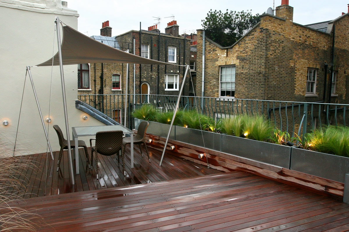 city roof terrace in marylebone w1 designed by joan edlis. Black Bedroom Furniture Sets. Home Design Ideas