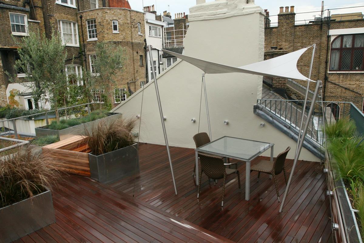 Pergola Design City Roof Terrace In Marylebone W1 Designed By Joan Edlis