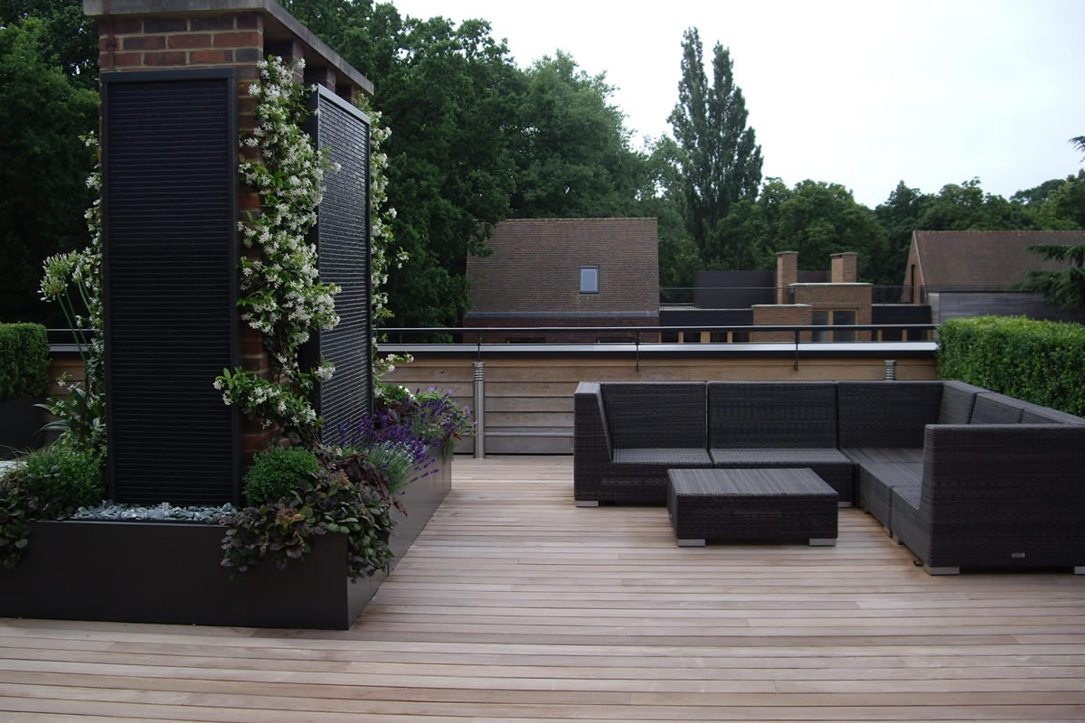 roof terrace design in highgate a bespoke contemporary space with