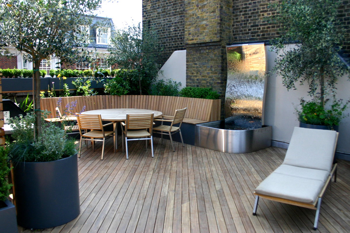 Contemporary roof terrace in baker street marylebone for Terrace garden design