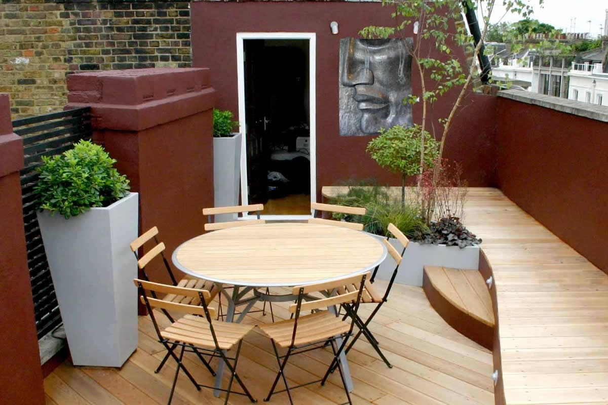 Stylish seating roof terrace in pimlico victoria sw1 for Diseno para pequenas terrazas
