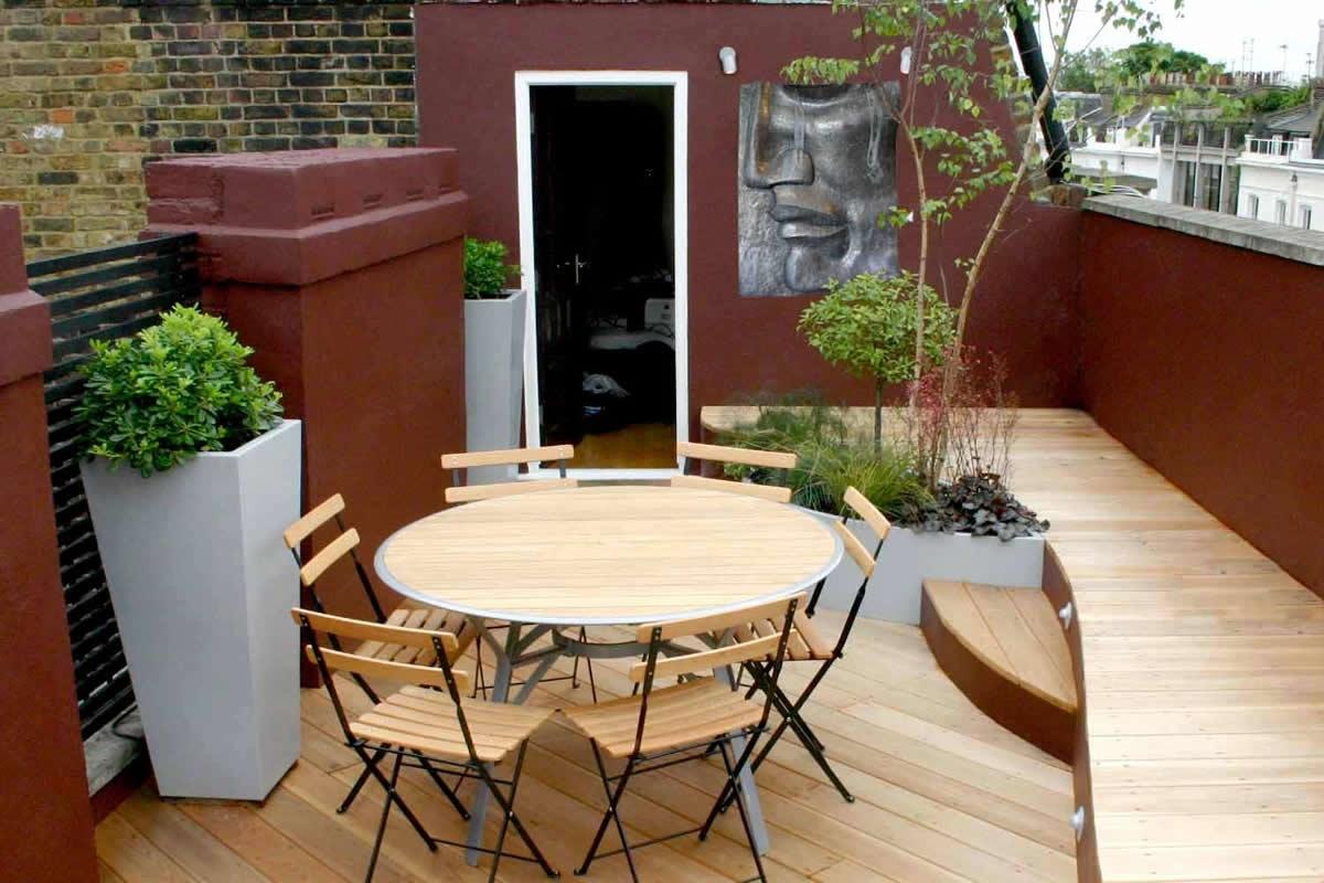 Stylish seating roof terrace in pimlico victoria sw1 for Modelos de terrazas
