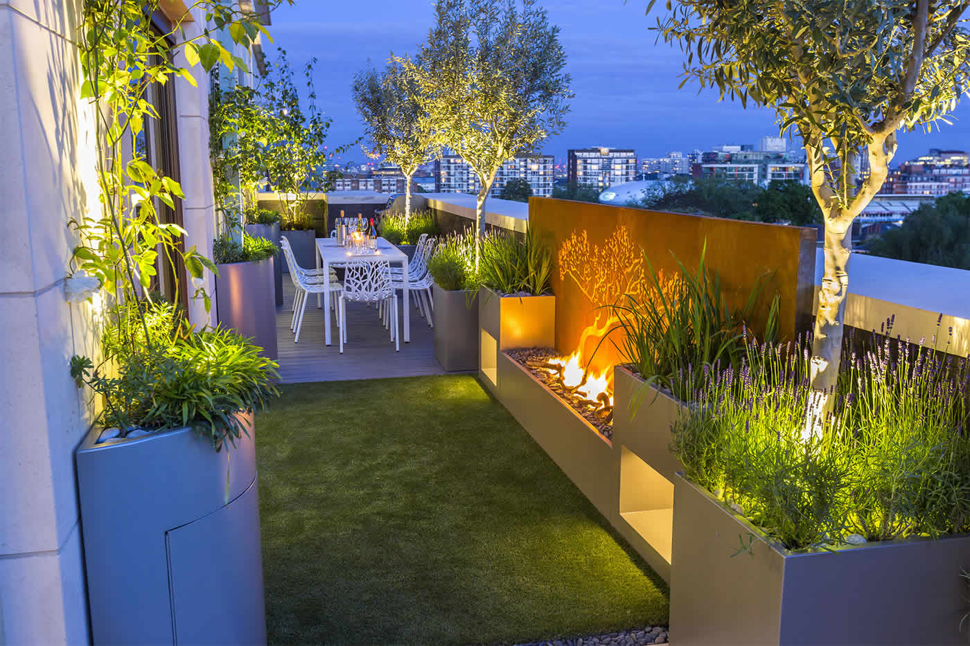 Roof Terrace Design St John's Wood London, By The Garden