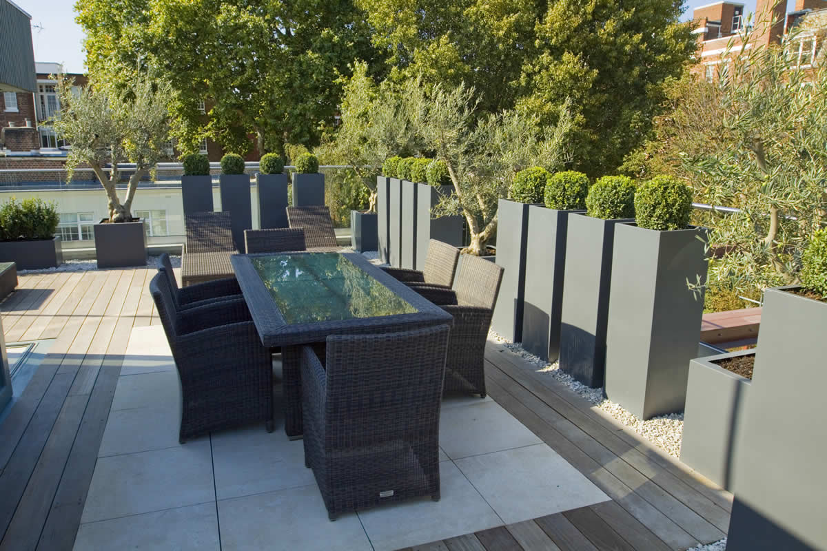 Roof terrace design in st john s wood nw8 by garden for 14 m4s garden terrace