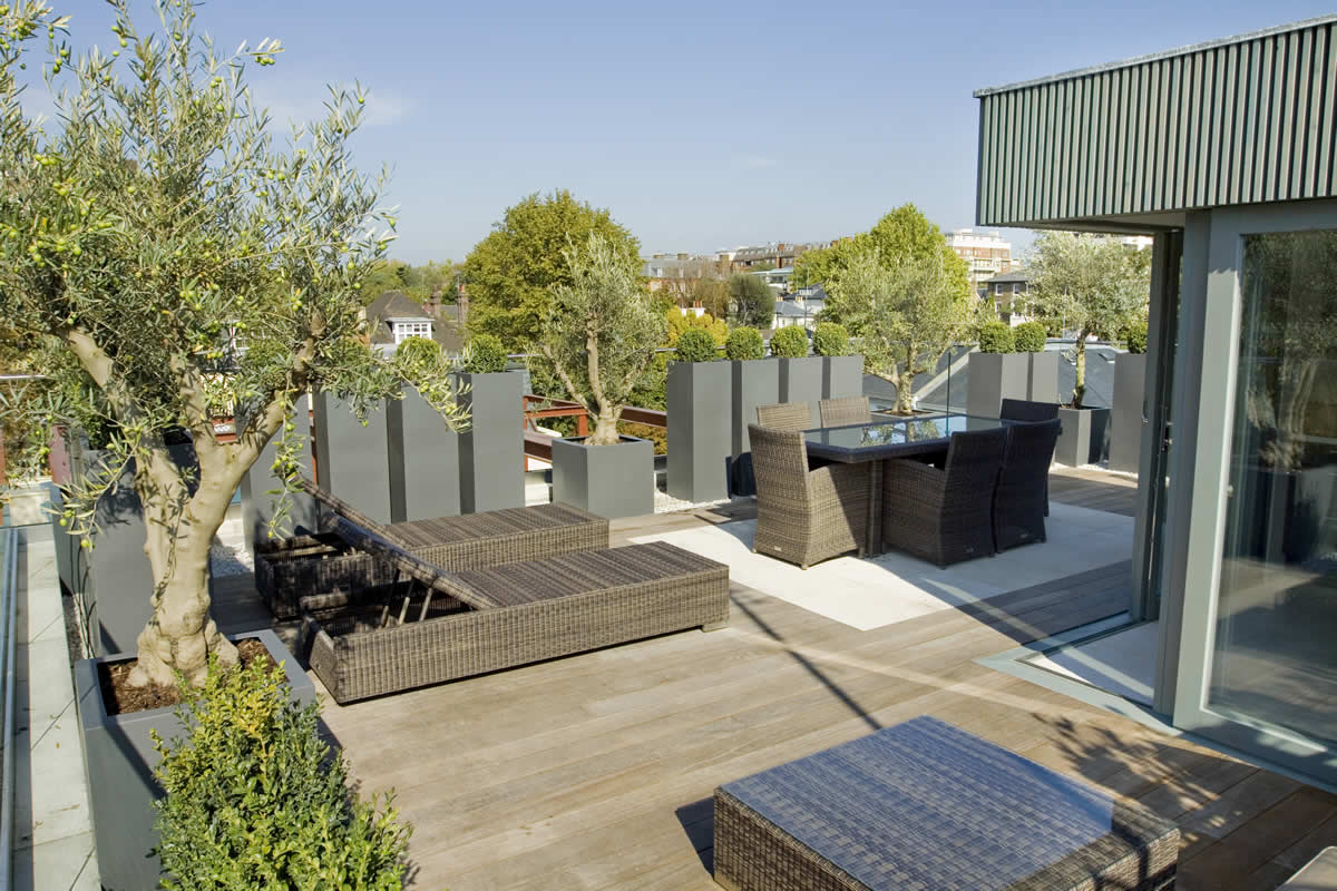Roof terrace design in st john s wood nw8 by garden for Whats a terrace
