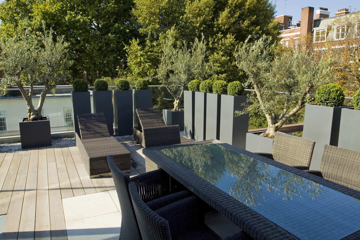 Roof terrace design in st john 39 s wood nw8 by garden for Use terrace in a sentence