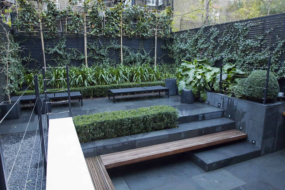 small city garden design in kensington london designed by award winning declan buckley. Black Bedroom Furniture Sets. Home Design Ideas
