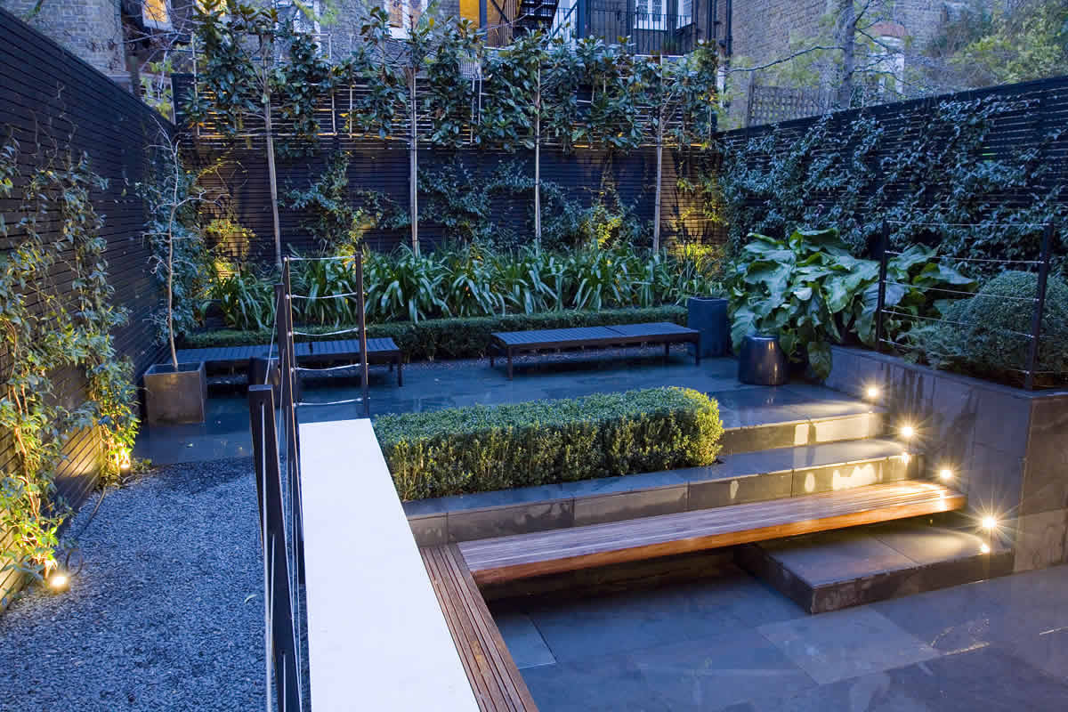 Small City Garden Design In Kensington London Designed By
