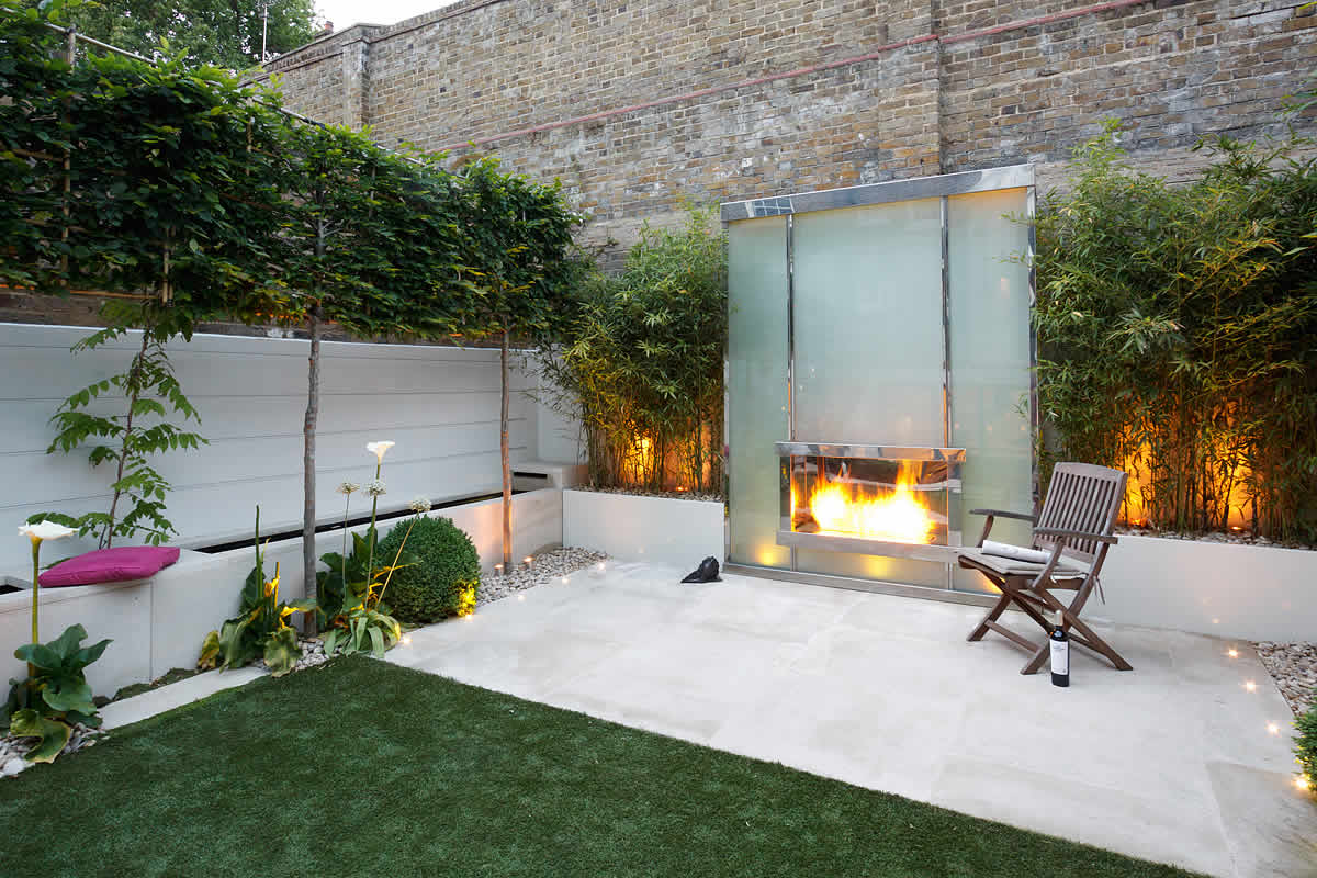Minimalist yet modern by garden designer kate gould palace gardens terrace south kensington - Contemporary decor ...