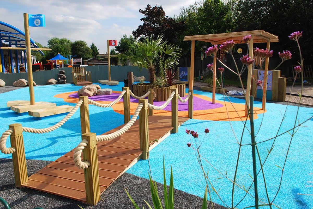 Children sensory school garden designed by nigel abbey for Garden designs for schools