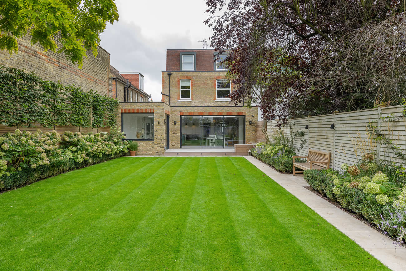 Family garden design in Barnes West London