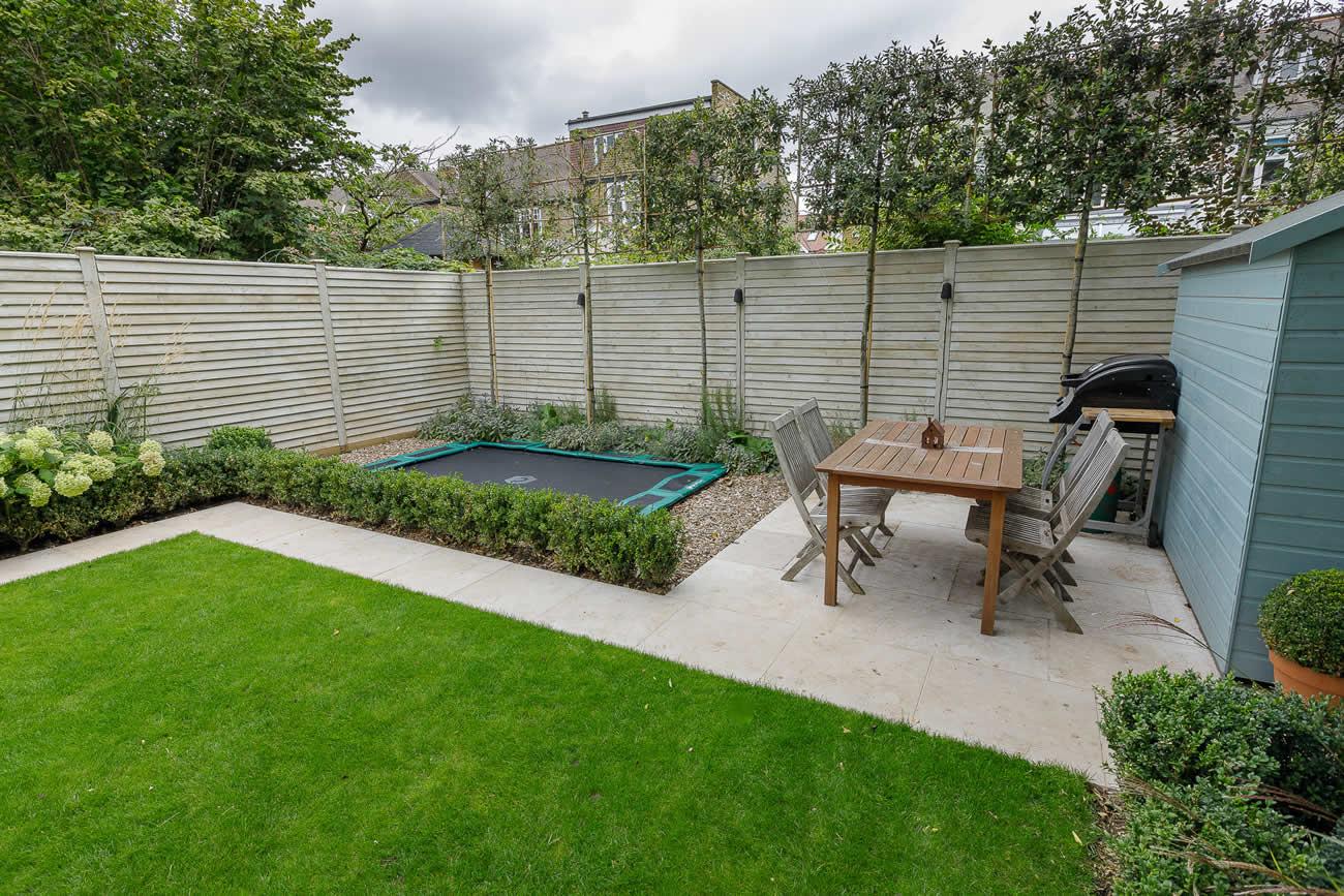 Family garden design in Barnes West London
